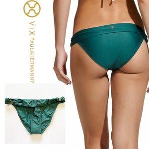 VIX Swim Bia Tube Full Bikini Bottom Green NWT